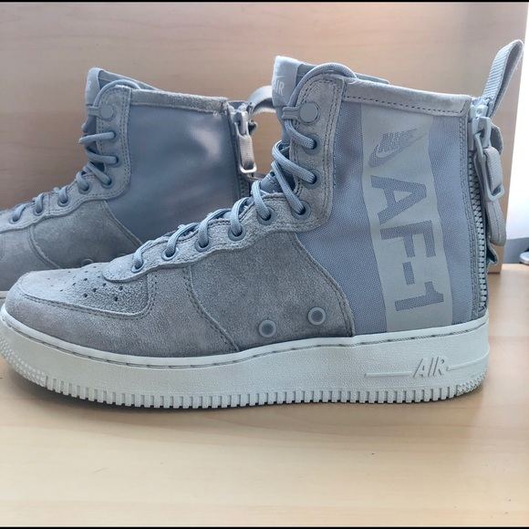 nike air force 1 high top with strap on back